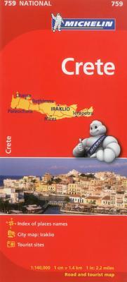 Michelin Crete Map By Michelin Travel & Lifestyle (COR)